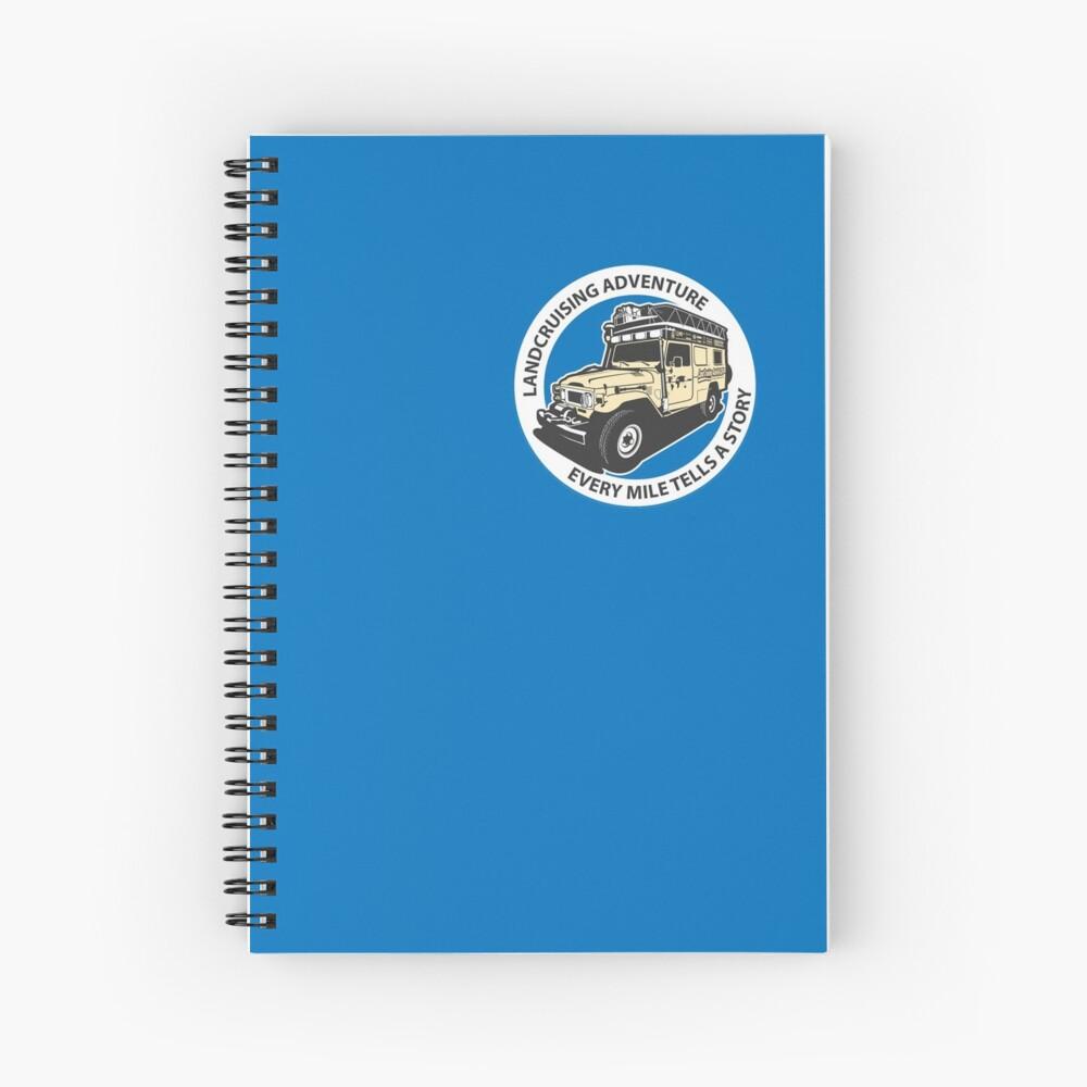Blue Circle  Spiral Notebook