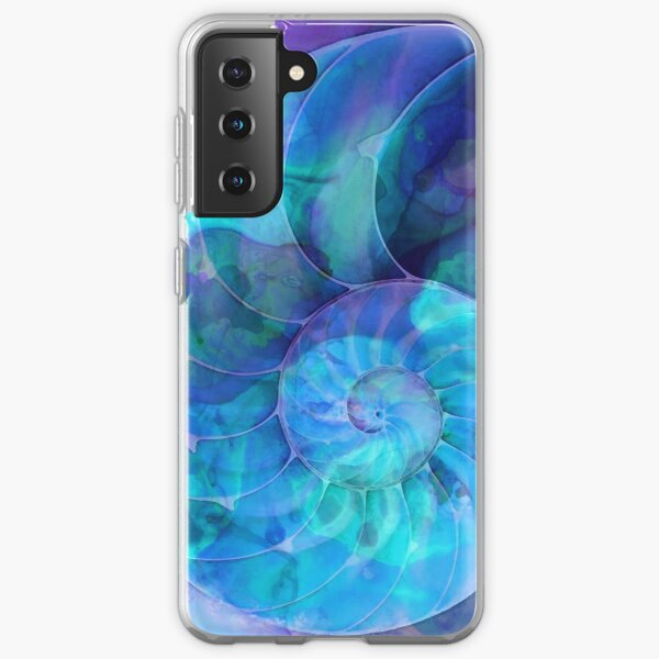 Blue Nautilus Shell By Sharon Cummings Samsung Galaxy Soft Case