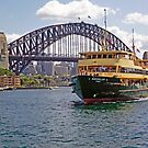 Manly Ferry approaching Circular Quay by TonyCrehan