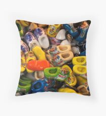 Clogs, Amsterdam Throw Pillow