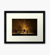 Circles and Sparks Framed Print