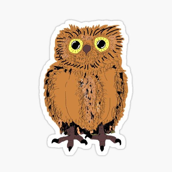 Chouette un Hibou! version Brown Sticker