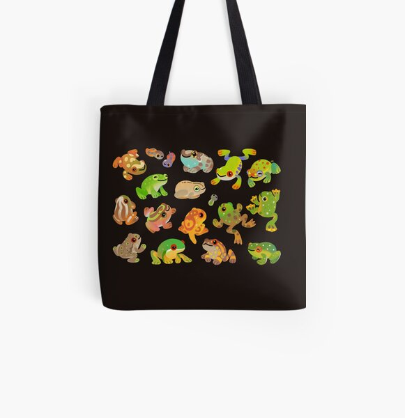 Tree frog - dark All Over Print Tote Bag