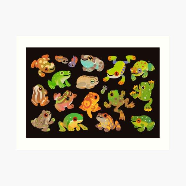 Rana arbórea - oscura Lámina artística