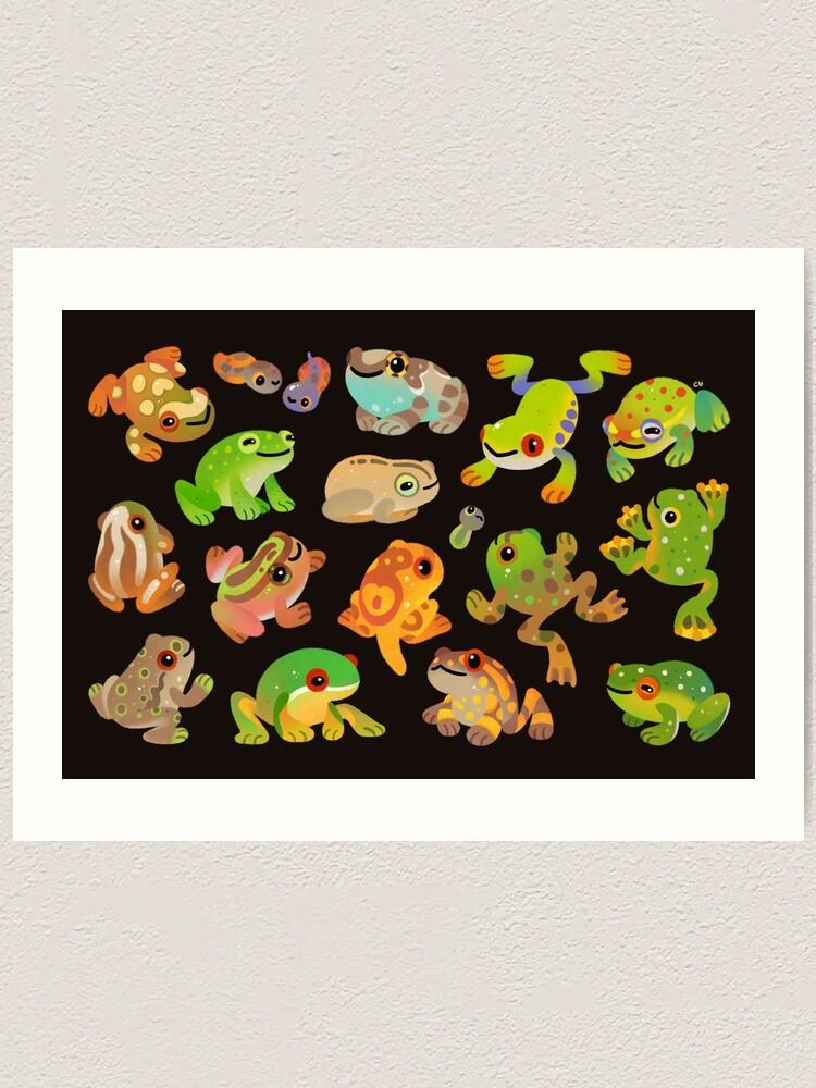 Alternate view of Tree frog - dark Art Print