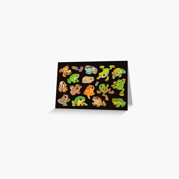 Tree frog - dark Greeting Card