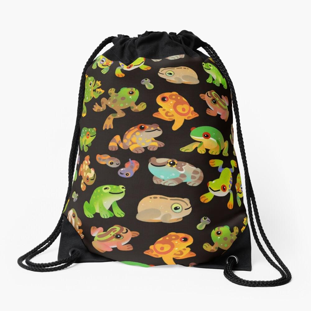 Tree frog - dark Drawstring Bag