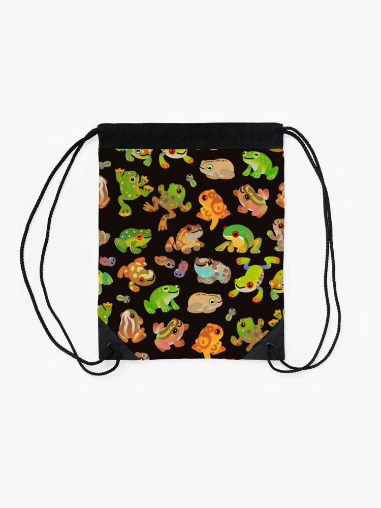 Alternate view of Tree frog - dark Drawstring Bag