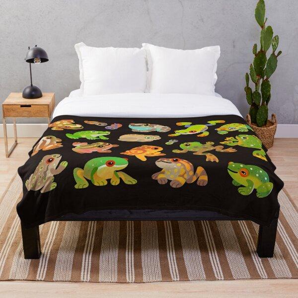 Tree frog - dark Throw Blanket