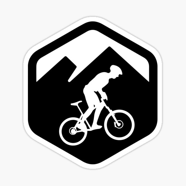 Ciclista de montaña btt logo Pegatina