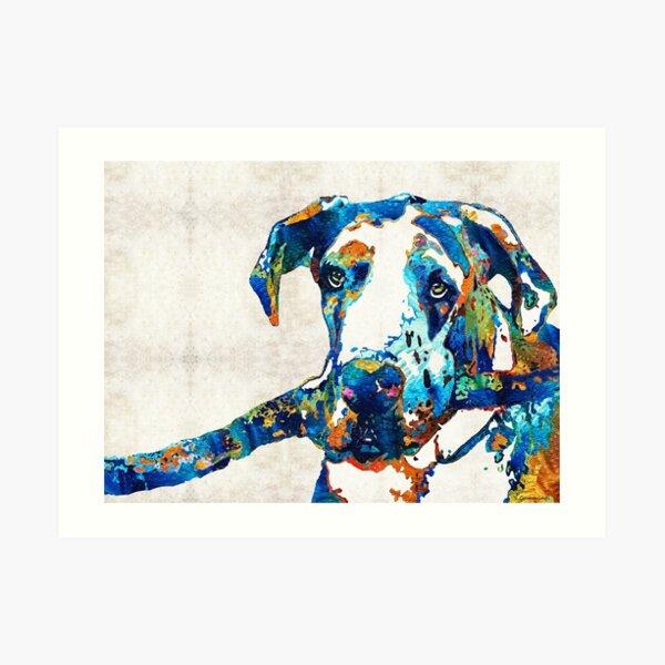 Great Dane Art - Stick With Me - By Sharon Cummings Art Print