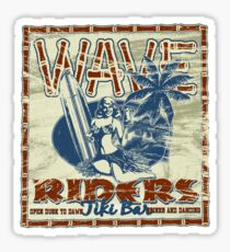 wave riders tiki bar Sticker