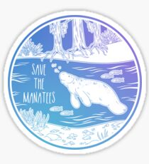 Save the Manatees! Sticker