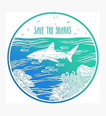 Save the Sharks! Photographic Print