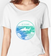 Save the Sharks! Women's Relaxed Fit T-Shirt