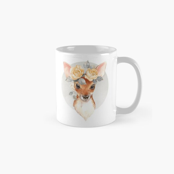Fawn with yellow roses Classic Mug