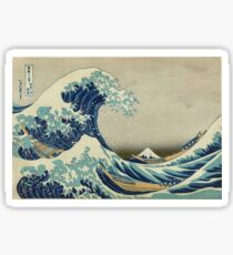 Best Price T-Shirts etc - Hokusai - the great wave off Kanagawa - 1823 Sticker