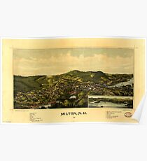 Panoramic Maps Milton NH 1888 Poster