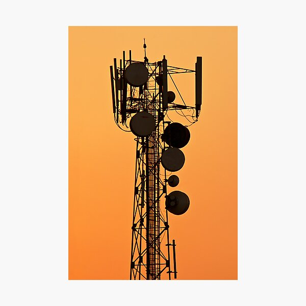 Mobile Tower Silhouette Photographic Print