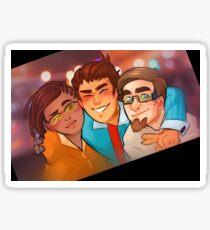 Rhys, Yvette, and Vaughn from Borderlands Sticker