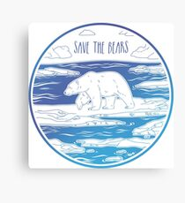 Save the Bears! Canvas Print
