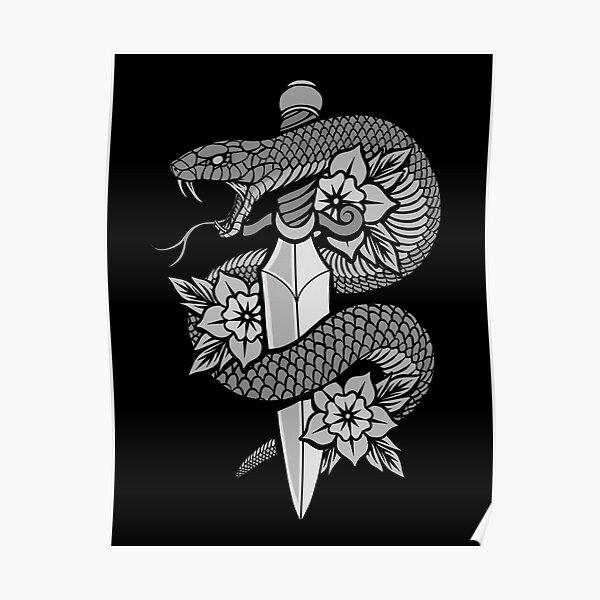 Snake & Dagger Poster