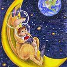 """Illustrazione per  """"Il canguro giramondo"""" by Francesca Romana Brogani"""
