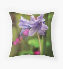 Blue Belle Throw Pillow