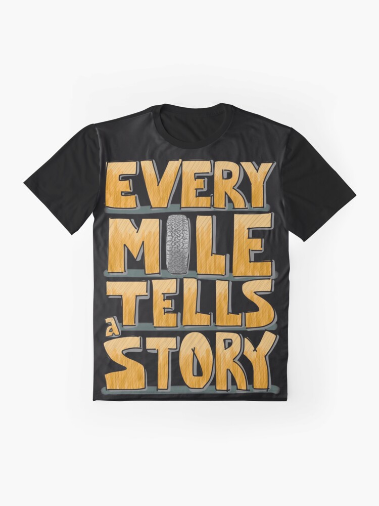Alternate view of Tire in the Mile Graphic T-Shirt
