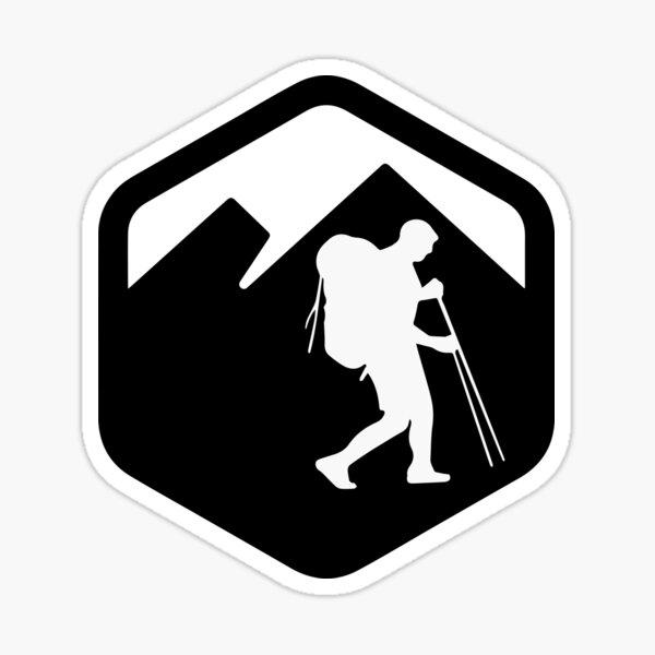 Trekking logo Pegatina