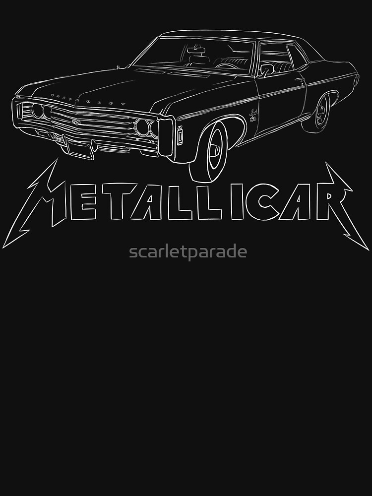 Metallicar (White Line and Text) | Unisex T-Shirt