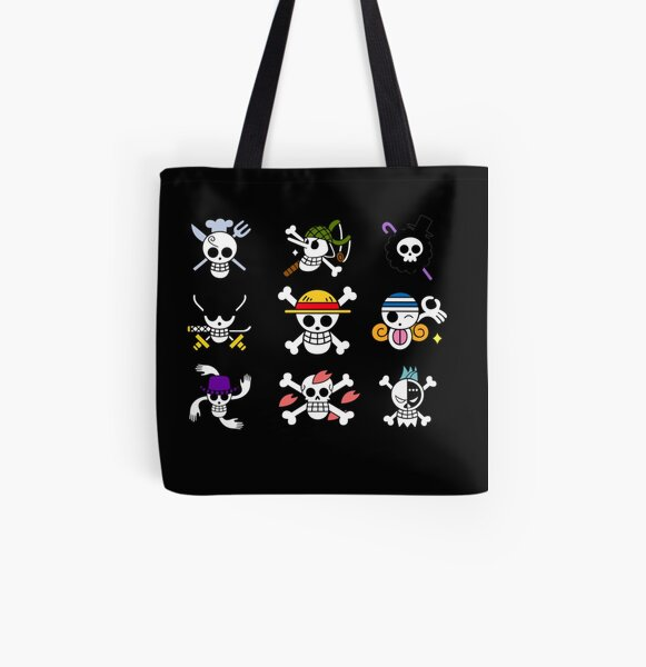 One Piece Logo Collection All Over Print Tote Bag