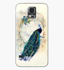 Funda/vinilo para Samsung Galaxy Caja de pavo real vintage