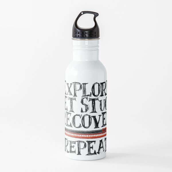 Explore, Get Stuck, Recover, Repeat Water Bottle