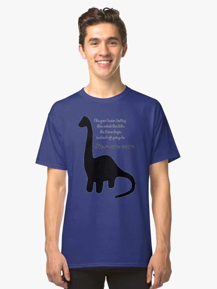 Dinosaur Races Classic T-Shirt Front