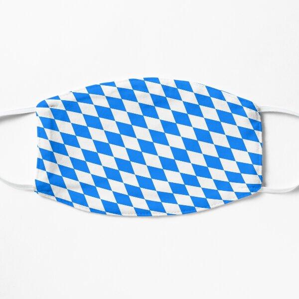 Bavarian Blue and White Diamond Flag Pattern Flat Mask