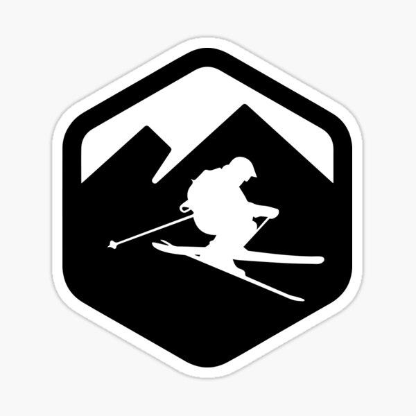 Esquiador freerider logo Pegatina