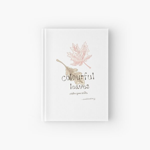 colours of the leaves  Hardcover Journal