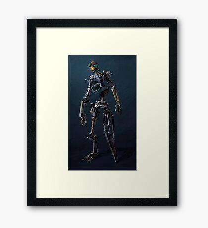 HENRi Robot Concept Framed Print