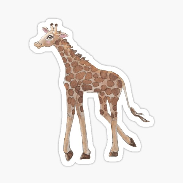 Mrs Giraffe Sticker