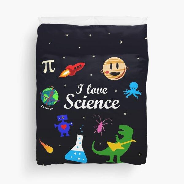 I Love Science Duvet Cover