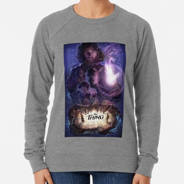 The Thing Movie Poster Lightweight Sweatshirt