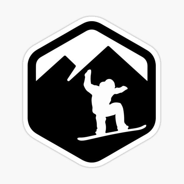 Snowboarder logo Pegatina