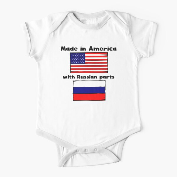 Made In America With Chinese Parts Baby Bodysuit One Piece