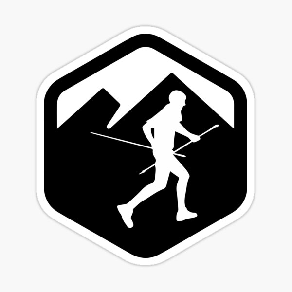 Corredor trail running KV logo Pegatina