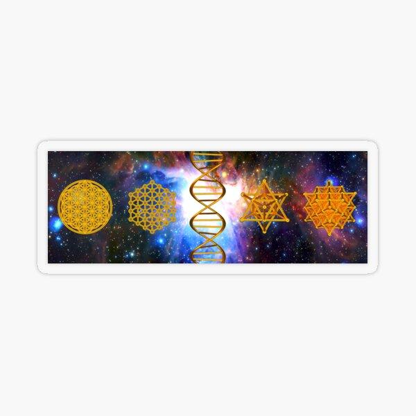 Flower of life DNA Merkaba Transparent Sticker