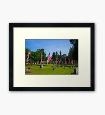 Memorial Rows Framed Print
