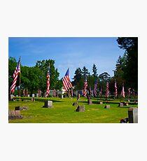 Memorial Rows Photographic Print