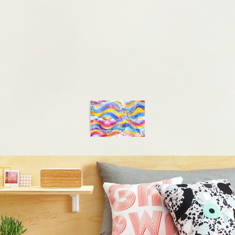 Rainbow waves watercolor Photographic Print