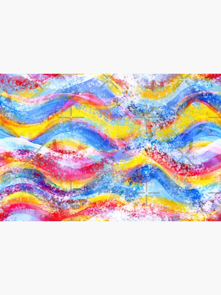 Rainbow waves watercolor by nobelbunt